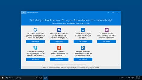 Microsoft Phone Companion Screenshots 2