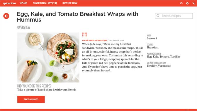 Get epicurious microsoft store screenshot recipe detail page forumfinder Images