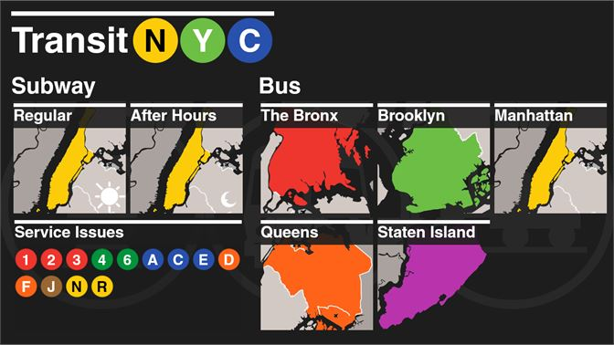 1 Page Nyc Subway Map.Get Transit Nyc Microsoft Store