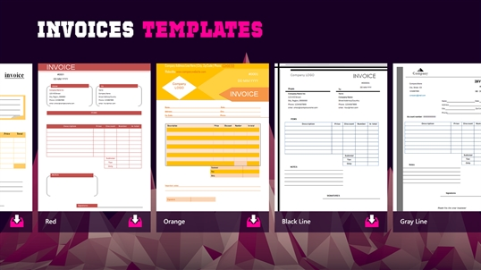 Invoices Templates for Windows 10 PC & Mobile free download   TopWinData.com