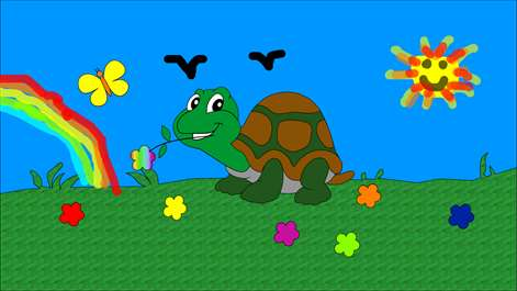 screenshot choose a drawing to color filling the shapes or with free hands you - Kids Paint Free