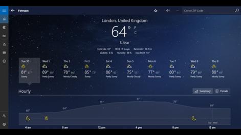 MSN Weather Screenshots 1