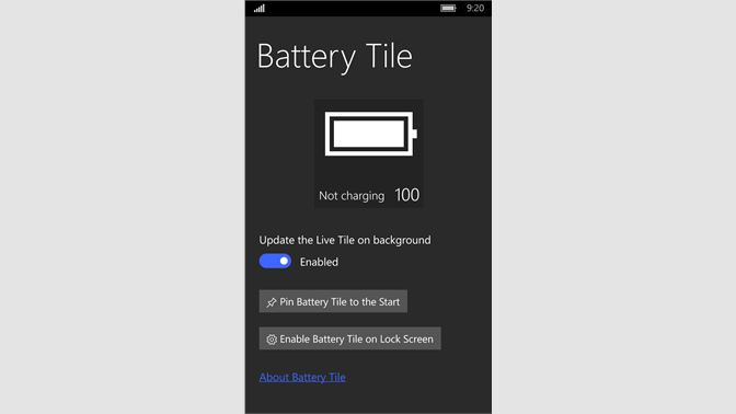 Get Battery Tile - Microsoft Store