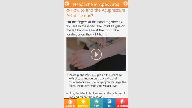 Get Acupressure Against Headache  - Microsoft Store en-GB