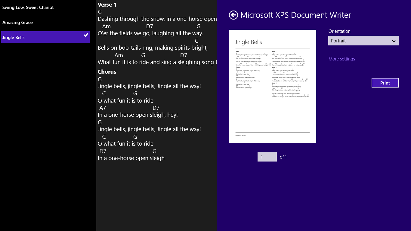 Chord Chart For Windows 10