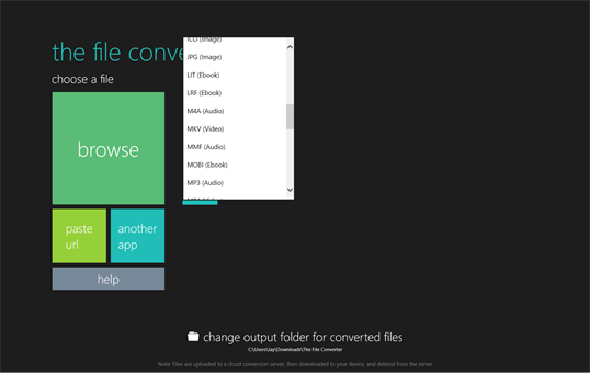 The File Converter screenshot 2