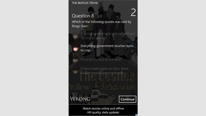 Get The Beatles Trivia - Microsoft Store