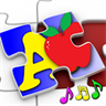 Kids ABC and Counting Jigsaw Puzzle game - teaches the alphabet and numeracy