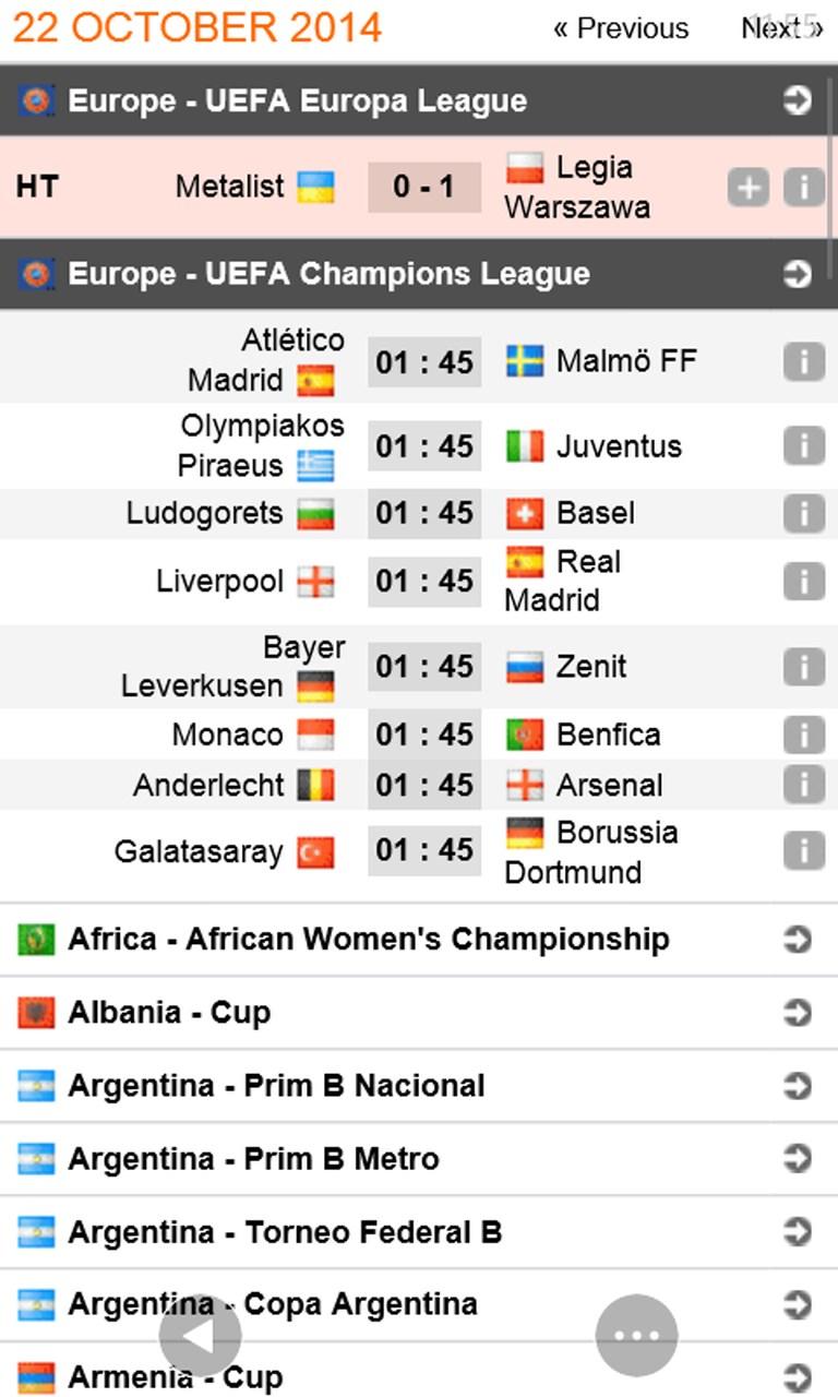 World betting fixtures soccerway kleinbettingen cfl scores