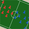 Simple soccer tactic board